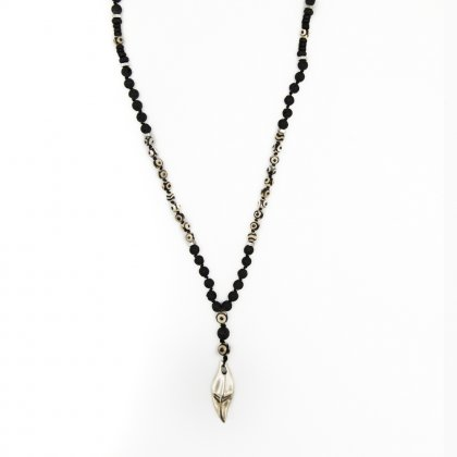 Rosary shark tooth and thivet eye necklace.